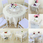 lace square tablecloth - Light Beige Rose Flower Embroidered Lace Table Cover Tablecloth Placemats