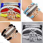 Autism Puzzle Piece bracelet Where There's a will There's a way bracelet gifts