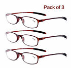 3 Pack Reading Glasses Flexible Light Weight Readers +1.0 1.50 2.00 2.50 3.0 3.5