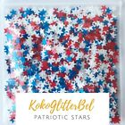 white nail glitter - Patriotic Star Glitter Red White Blue | Nail Art | USA Puerto Rico July 4th