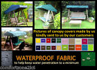 MADE TO MEASURE WATERPROOF GARDEN SWING CANOPY COVER - FLAT ROOF - APEX - CURVED