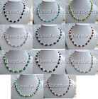 variations color  white color freshwater pearl and jade turquoise agate necklace