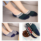 5/10 Pairs Men Loafer Boat Invisible No Show Nonslip Liner Low Cut Cotton Socks