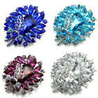 Women's Banquet Party Broach Clear Rhinestone Crystal Butterfly Pin Brooch Charm