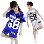 Sequined Jazz Modern Boys/Girls Hip Hop Dance Costume Kids Dancewear Top&Pant AU