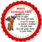 MAGIC REINDEER FOOD stickers For Sweet Cones etc, 3 Sizes - Ref CHSMS 01-24