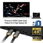 New Premium HDMI Cable V2.0 3D 4K Ultra HD Audio Gold Plated HighSpeed 1m ~ 20m