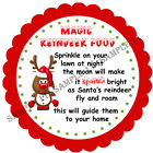 MAGIC REINDEER FOOD stickers For Sweet Cones etc, 3 Sizes - Ref CHSMS 01-68