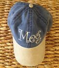 PERSONALIZED MONOGRAMMED TWO TONE DENIM PIGMENT DYED COTTON TWILL BASEBALL CAP