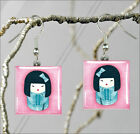 ASIAN KOKESHI DOLL BLUE FASHION DESIGN #1 PENDANTS NECKLACE M - L - XL -unc4X