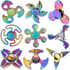 Rainbow Metal Hand Tri Spinner Fidget EDC Autism Focus Toy Finger Gyro Spin Gift