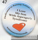 Aspergers Badges, I love my son with Aspergers syndrome