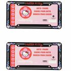 A Set of 2 Plastic Glitter Automotive Lie Frame-Sanrio Love Hello Kitt-19901-31