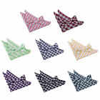 DQT Premium Woven Jacquard Gingham Check Men's Pre-tied Bow Tie and Hanky Set