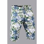 Platini Men's Light Fitting Comfort Wear Cotton Leafy Summer Shorts White