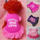 Small Dog Cat Pet Princess Clothes Puppy Bow Vest T Shirt Coat Dress Apparel US