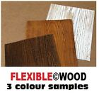 ARTIFICIAL WOOD SLIPS CLADDING WALL TILES FLEXIBLE NOT BRICK  SAMPLES ONLY