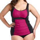 Elomi Swimwear Aura Gathered Tankini Top Black/Pink 7023 NEW