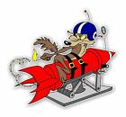 Wile E Coyote Rocket  Decal / Sticker Die Cut