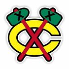 Chicago Blackhawks Old Emblem Precision Cut  Decal / Sticker $2.99 USD on eBay