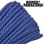 Baby Blue Navy Blue Diamonds - 550 Paracord Rope 7 Strand - 10ft 25ft 50ft 100ft