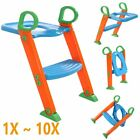 LOT Toilet Potty Seat Chair Kids Toddler With Ladder Step...