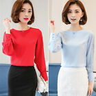 Fashion Women Ladies Long Sleeve Loose Blouse Summer Lace Casual Shirt Tops