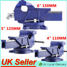 "4"" 5"" 6"" Heavy Duty Vice Swivel Base 360 Degree Engineer Workshop Clamp Jaw UK"