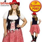 CA330 Hoedown Honey Womens Plus Size Cowgirl Western Wild West Dress Up Costume