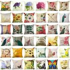 18'' Flower Throw Pillow Cover Floral Pillow Case Sofa Couch Cushion Cover Decor image