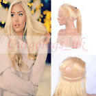 360 Lace Band 360 Full Lace Frontal Closure 613# Blonde Human Hair Straight Hair