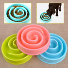 """8"""" Anti Gulping Bowl Pet Dog Cat Puzzle Feeder Slow Eating Food Plastic Healthy"""