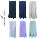 LADIES DESIGNER A-LINE STRETCHY SKIRT 31 INCH LENGTH FULL ELASTIC SIZES 12-22