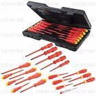 ELECTRICAL VDE INSULATED SOFT GRIP SCREWDRIVERS SCREWDRIVER SLOTTED PHILLIPS SET
