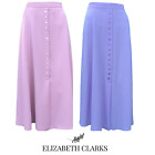 LADIES DESIGNER A-LINE CLASSIC LONG SKIRT 33 INCH LENGTH ELASTIC SIZES 14-24