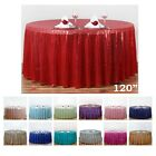 "Внешний вид - LUXURY COLLECTION Duchess Sequin Round Tablecloths 120"" For Wedding Party Events"