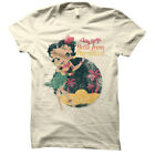 Betty Boop Cartoon Hello From Paradise Juniors T-Shirt Tee $33.11 CAD on eBay