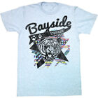 Saved By The Bell 80's Comedy Sitcom Bayside Tigers Logo Sky Blue Adult T-Shirt image