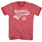 Saved By The Bell 80s Comedy Sitcom Bayside Tigers Tail Adult Ringer T-Shirt Tee image