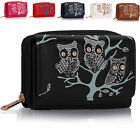 Small Owl Tree girls Ladies Card Coin Wallets Women Designer Purses New UK Bags