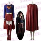 2017 DC Supergirl Superwoman Halloween Cosplay Costume Cape Mantle Full Set