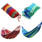 Double Canvas Garden Hammock Hook Kit Outdoor Camping Beach Swing Bed 2 Colors