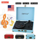DMYCO Bluetooth Portable Turntable Record Player Built-in 3 Speed Stereo RCA USB