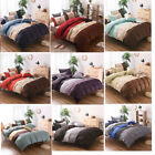 US Microfiber Duvet Cover Bedding Sets Pillowcases Twin Double Queen King