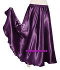 Purple TMS Satin Half Circle Skirt Belly Dance Maxi 4 5 Yard 30Color Instock
