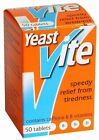Yeast Vite Relief From Tiredness with Vitamins 100 Tablets - 1 , 2 , or 3 Packs