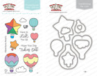 UP Clear Stamps/Dies Set-The Greeting Farm-Stamping Craft-Mini Hot Air Balloons