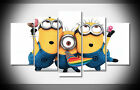 7370 minions Poster print with framed canvas Home art gallery wrap decor NEW