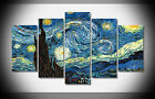 7348 painting the starry night classic art stars surreal Poster print with frame