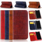Luxury Leather Flip Wallet Phone Case Cover Stand for iPhone 5 5S SE 7 6 6S Plus